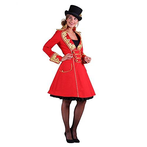 Thetru Traje Capa del Anillo de circunvalación Capa roja Vestido de Circo del Carnaval espectáculo de Disfraces (XL)