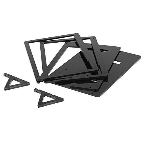 Asixxsix Bildschirmgehäuse, IPS Touch Plus-Bildschirmgehäuse, 7 Zoll für Raspberry(Plastic Bracket Shell)
