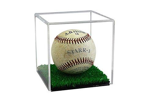 Better Display Cases Acryl Baseball oder Tennisball-Vitrine mit Turf Floor (A057-TB) klar
