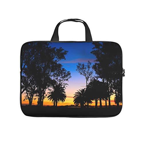 Funda para portátil ligera de neopreno, diseño de atardecer y puesta de sol