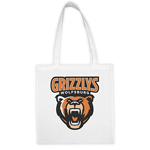Grizzlys Wolfsburg Eishockey Mannschaft Wiederverwendbare Einkaufstasche aus Baumwolle