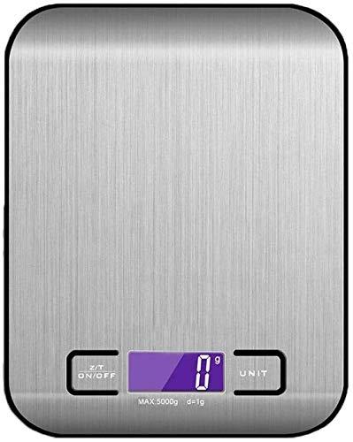 LaLa POP Escala de cocina digital 1g-5kg / 10kg, básculas de cocción electrónica de acero inoxidable de primera calidad, básculas de pesaje de alimentos con pantalla LCD para hornear, cocinar-10kg_bla