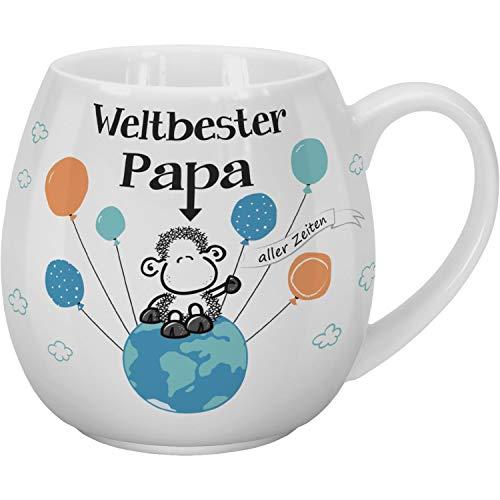 Sheepworld 46314 Kaffeebecher Weltbester Papa, 45 cl, Porzellan, in Geschenk-Banderole Tasse