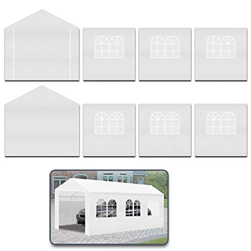 Strong Camel 10 x 20-Feet Carport Replacement Top Canopy Side Wall for Tent Top Garage Carport Shelter (Frame is not Included) (Side Wall)