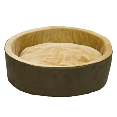 K&H Pet Products Thermo-Kitty Heated Pet Bed Small Mocha 16  4W