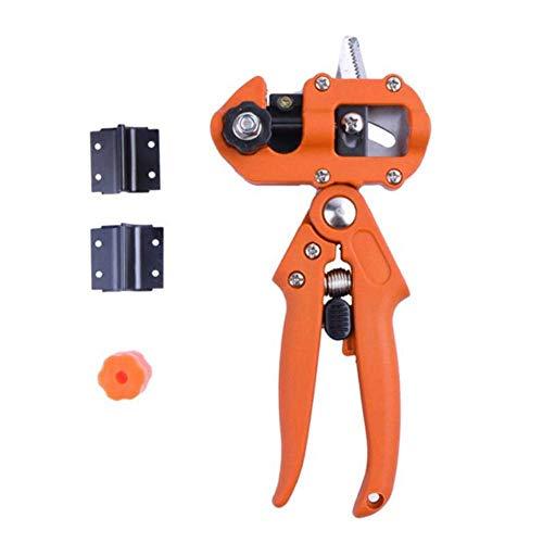 GYC Práctica máquina de injerto con 2 Cuchillas, Kit de Herramientas de Corte de poda de injerto de jardín Profesional, Duradera, para podar árboles frutales de injerto de plántulas