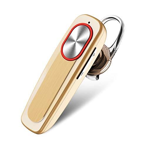 XCHJY Auricular inalámbrico Bluetooth Espera Largo con micrófono Manos Libres inalámbrico Bluetooth for Auriculares Auriculares con Gancho Colorido for el teléfono (Color : Gold)