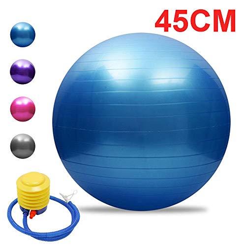 YSCYLY Sitzball Gymnastikball,45cm/55cm/65cm/75cm mit Luftpumpe,FüR Geburt RüCkbildung Beckenbodentraining & Fitness Anti-Burst