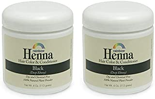 Rainbow Research Persian Black Hair Henna (Pack of 2) with Lawsonia Inermis, 4 oz.