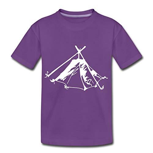 Zelt Biwak Kothe Teenager Premium T-Shirt, 158-164, Lila