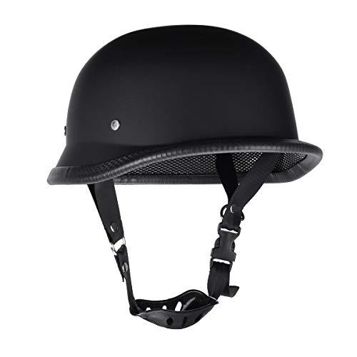 Creamon Halber Helm, Motorrad Retro Schutzhelm mit Abnehmbarer Visier Lokomotive Halber Helm XL