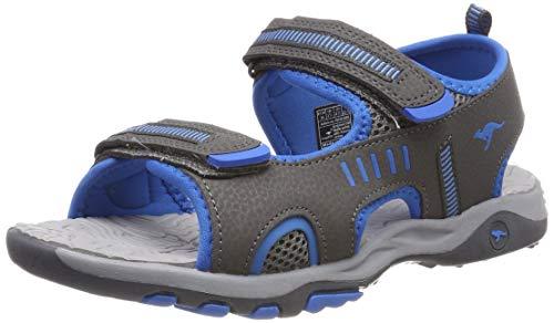 KangaROOS K-Logan Unisex-Kinder Sneaker, Grau (Steel Grey/Blue 2098), 38 EU