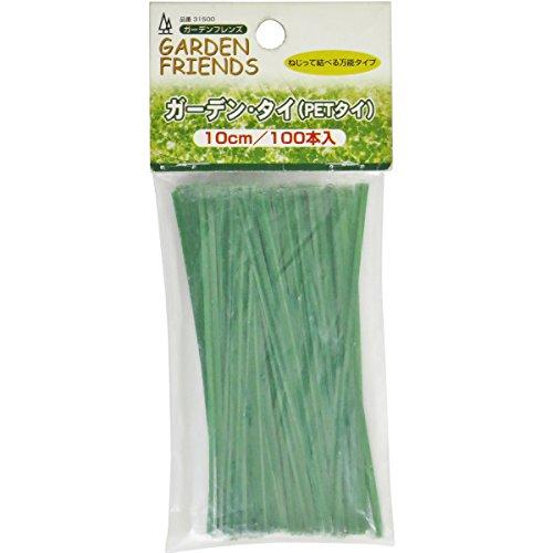 ガーデンフレンズ ガーデンタイ 100本 緑色 10cm
