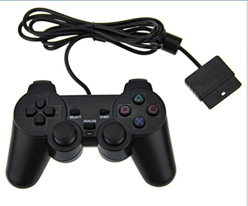 KUYOO PS2 - Mando de Juego con Cable para Sony Playstation 2, Color Negro