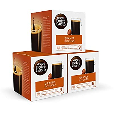 NESCAFÉ Dolce Gusto Americano Intenso Coffee Pods, 16 Capsules (48 Servings, Pack of 3, Total 48 Capsules)