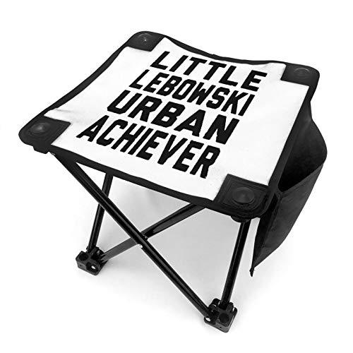 WGYWE Little Lebowski Urban Achiever Taburete de camping portátil plegable silla compacta ligera