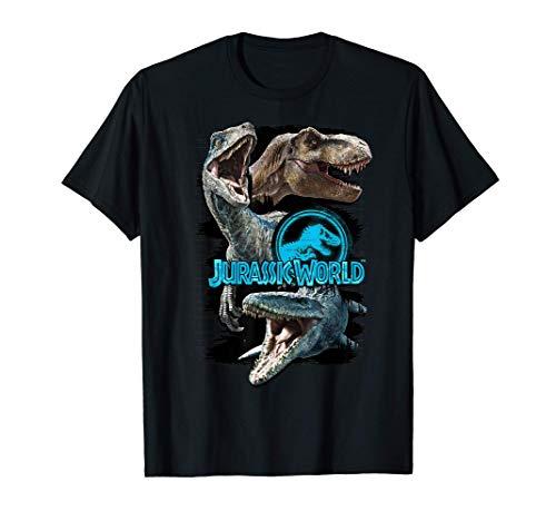 Jurassic World Paint Swipe Dinosaur Grid Maglietta