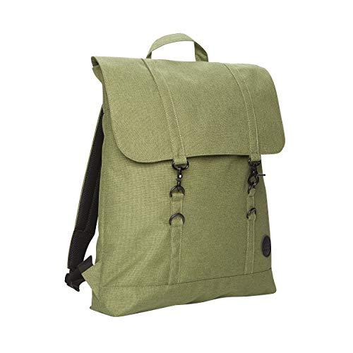 Enter Accessories - City Backpack - Rucksack - aus Polyester mit 15 Zoll Laptop Fach - Mann Frau Unisex - 12 Liter- Swedish Design (Melange Grün)