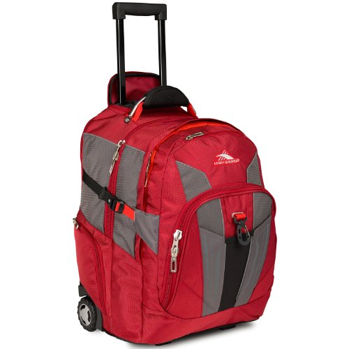 High Sierra XBT - Business Rolling Backpack, Carmine/Red Line/Black, One Size