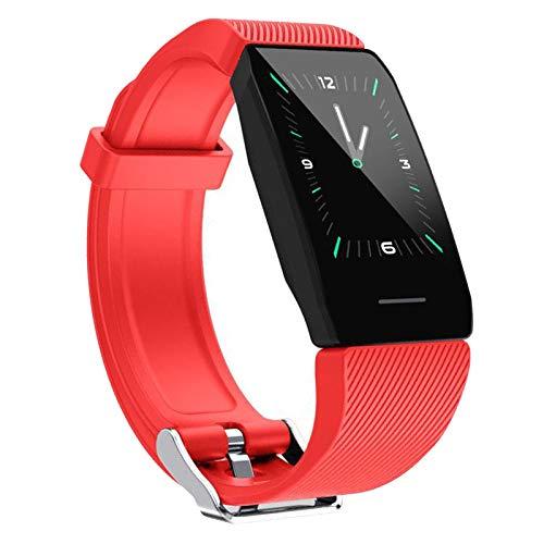 H HILABEE Smart Watch per Telefoni Android E Telefoni iOS Fitness Tracker Pedometro Resistente all Acqua - Rosso