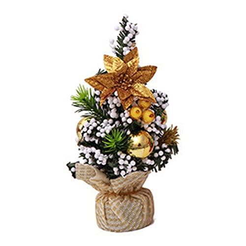 Easyeeasy Decoraciones para árboles de Navidad Decoraciones de escritorio para el hogar de Navidad Tela brillante Decoraciones de año nuevo para árboles de Navidad