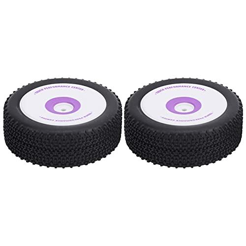 WYDM Neumático de Coche RC, 2 Piezas de neumático Delantero de Goma Profesional RC, Pieza Mejorada de RC, Compatible con Coche teledirigido 1/12