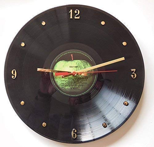 Abbey Road Record Clock - Handmade 12' wall clock made with the actual Beatles record.