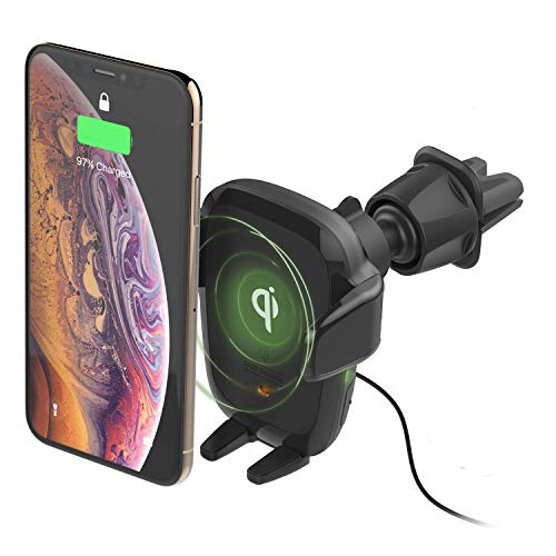 iOttie Wireless Car Charger Auto Sense Qi Charging Automatic Clamping CD + Air Vent Combo Phone Mount for iPhone, Samsung Galaxy, Huawei, LG, Smartphones