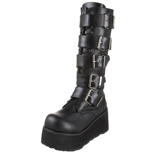 PleaserTrashville-518 - Botas hombre, - Blk Vegan Leather, 39 UE