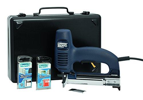 Elektrische nietmachine Koffer met accessoires. Agrafes No. 53 (8-20 mm)/Clous No. 8 (15-20 mm) blauw