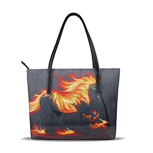Bolsos de cuero de animales mágicos de caballos, bolsos de hombro de cuero | monedero de canal para mujeres | para viajes de trabajo diario