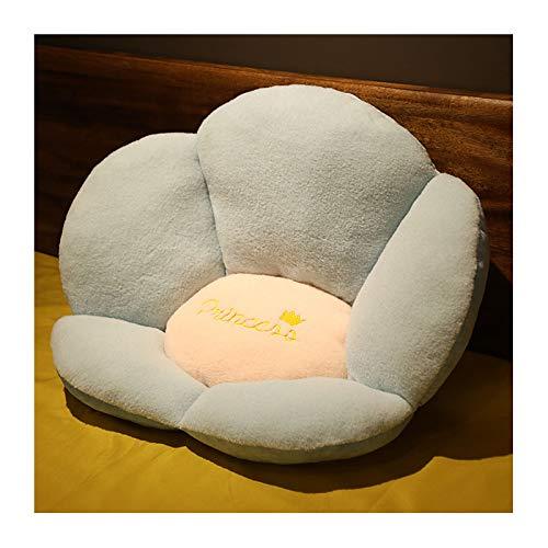 LHQ-HQ Lindo cojín de Asiento en Forma de pétalo con Respaldo Cojín de Felpa para sofá Decoración del hogar-Cojines de Felpa Cerrados,Azul