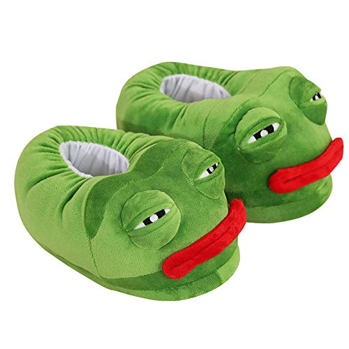 hilarious frog slippers for adults