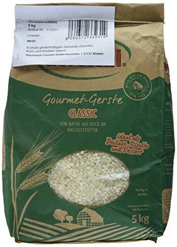 Gerstoni, GourmetGerste Classic 5kg Wie REIS POWERFOOD aus regionalem Anbau, Mild bis leicht nussig mit feinem Biss, 5000 g