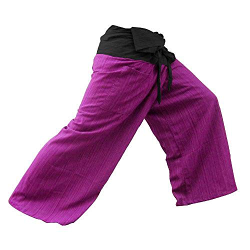 2 ton Thai Fisherman Pants Yoga pantalon gratuit Taille Plus taille coton