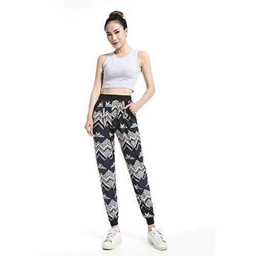 GDRFHJZ dames joggingbroek trainingsbroek etnische maat grote trainingsbroek lang nonchalante broek bedrukt