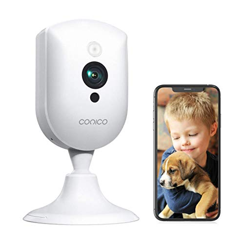 Baby Monitor, Conico 1080P Wireless Security Home Camera System with Sound Motion Detection IR Night Vision/2- Way Audio 8X Zoom, WiFi Pet Camera Cloud Service Compatible with Alexa, 2.4G WiFi