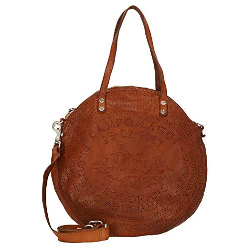 Campomaggi Shopping Bag Rund 41 cm Cognac
