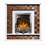 Art Flame, Chimenea eléctrica Senator & Galileo Silver, 2000 W, Calefacción de superficie 20 m²