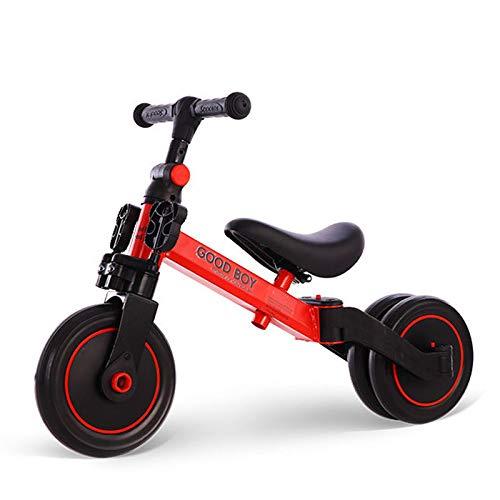 CHENYE Niños de 2 a 5 años, Walker multifunción, Bicicleta de Equilibrio, Triciclo, 3 en 1 Walker Deslizante - Mejor Regalo de cumpleaños (Rojo)