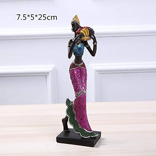 DIAOSUJIA sculptuur, ronde mand goud hars etnische stijl Afrikaanse schoonheid figuren creatieve vintage binnendecoratie kunsthandwerk sieraden voor home cadeau