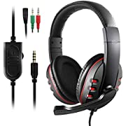 Etpark Gaming Headset for Xbox One, PS4, PC Controller Over-Ear Headphones with Mic Microphone, Soft Ear Cushion, 3.5mm Jack Cable for Laptop Tablet Smartphone