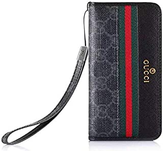 iPhone X XS Flip Case -Elegant Luxury Leather Wallet Cover FILP Case Wristlet Strap Designed Compatible with iPhone X/Xs