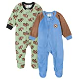 Gerber Baby Boys' 2-Pack Blanket Sleeper, Bear Green, 18 Months