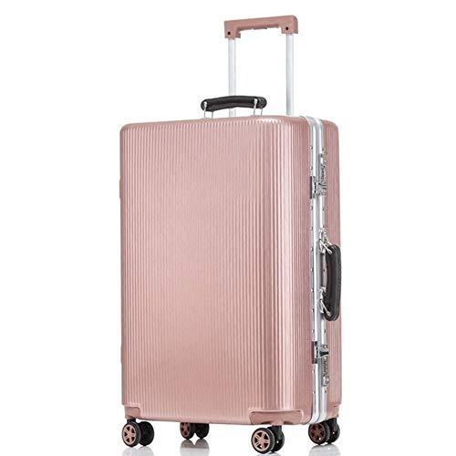 GNNHY Vintage Scratch-Resistant Aluminium Frame Boarding Box, 20 Inch Suitcase/Douane Code Lock/Dubbele Rij Mute Vliegtuig Wheel Trolley Case - Lichtgewicht