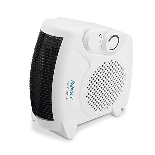 AVANT AV7558 - Calefactor De Aire Vertical 2000w con 2 Niveles De Potencia: 1000w - 2000w. Función Ventilador, Protección Térmica. Color Blanco