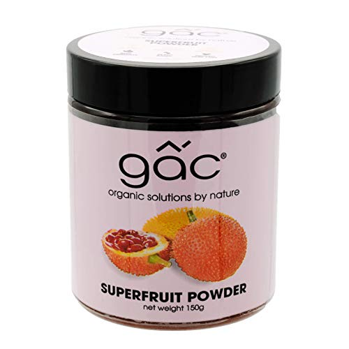 Gac | All Natural Superfruit Powder | High Antioxidant, Low Calorie, Organic, Vegan | for Longevity, Immunity, Vision, Skin & More | Add to Salads, Smoothies, Yogurt, Coffee & Tea | 65 Servings