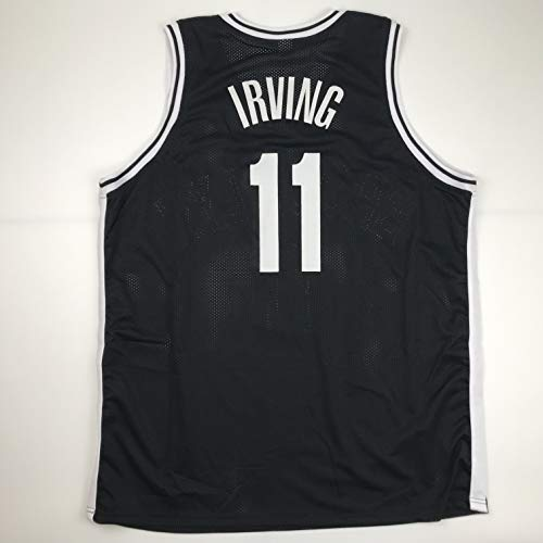 Unsigned Kyrie Irving Brooklyn Black Custom Stitched Basketball Jersey Size Men's XL New No Brands/Logos