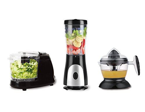 Eco+Chef Fresh Start Bundle Package: Personal Blender for shakes and smoothies, Citrus juicer compact, Mini Chopper for all kinds of Vegetables