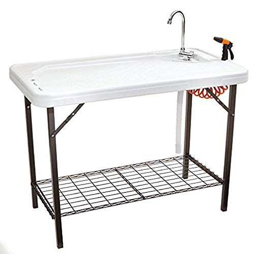 SEEK SKFT-48S Deluxe Cleaning Table, Large, White